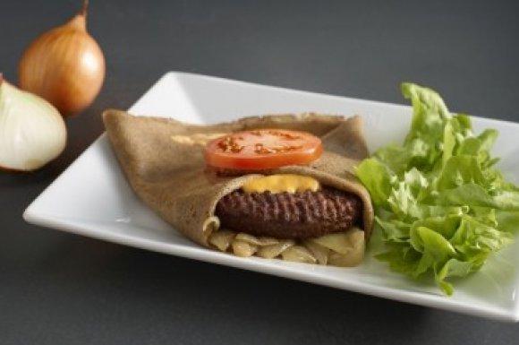Galette américaine steak haché salade oignons Vannes
